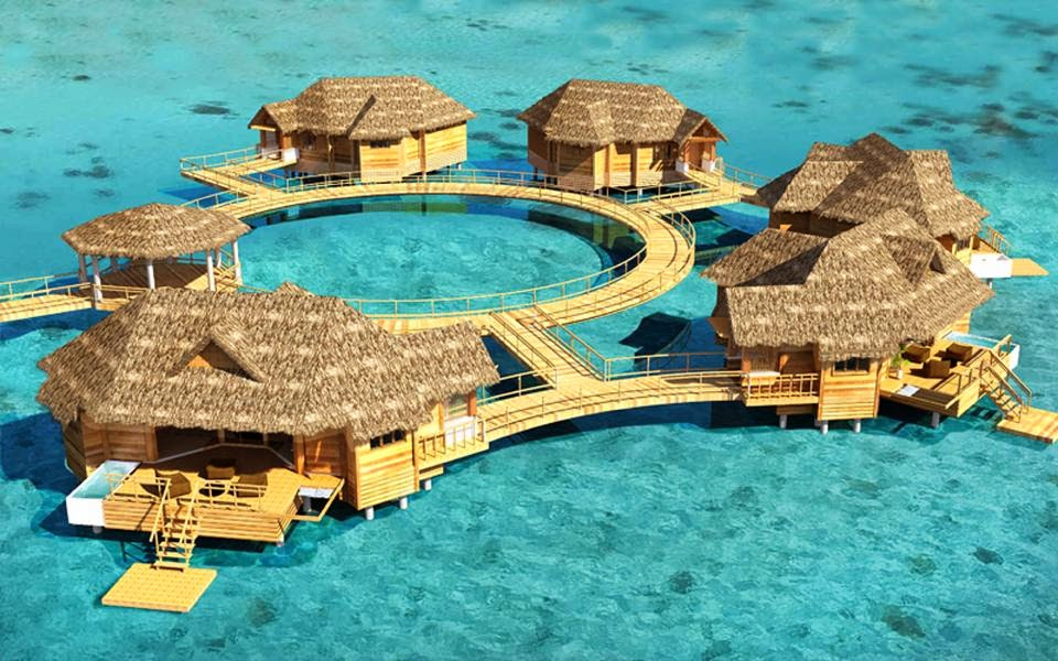 Royal Caribbean overwater bungalows
