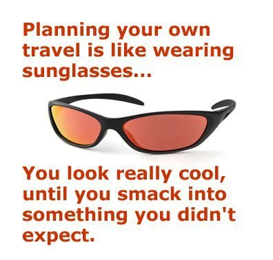 travel agent sunglasses