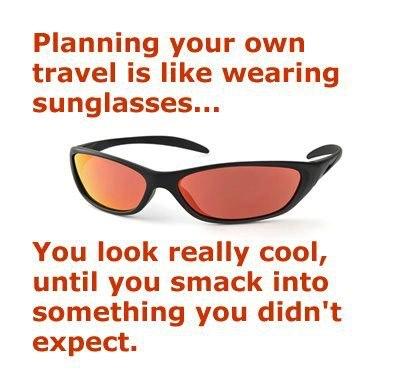 travel agent sunglasses